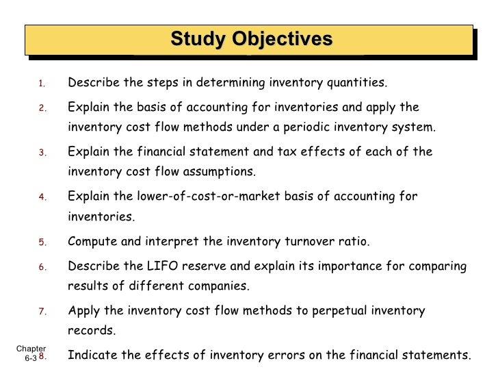 <ul><li>Describe the steps in determining inventory quantities. </li></ul><ul><li>Explain the basis of accounting for inve...