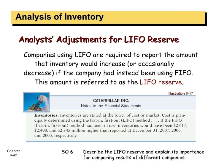 Analysis of Inventory Companies using LIFO are required to report the amount that inventory would increase (or occasionall...