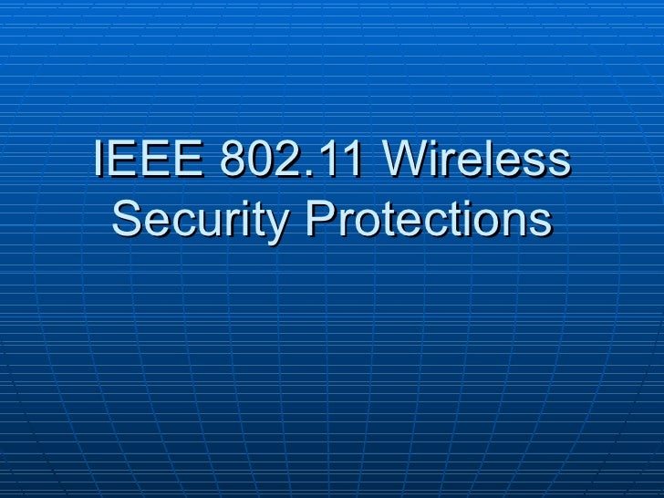 Ch06 wireless network security for Ieee 802 11 architecture