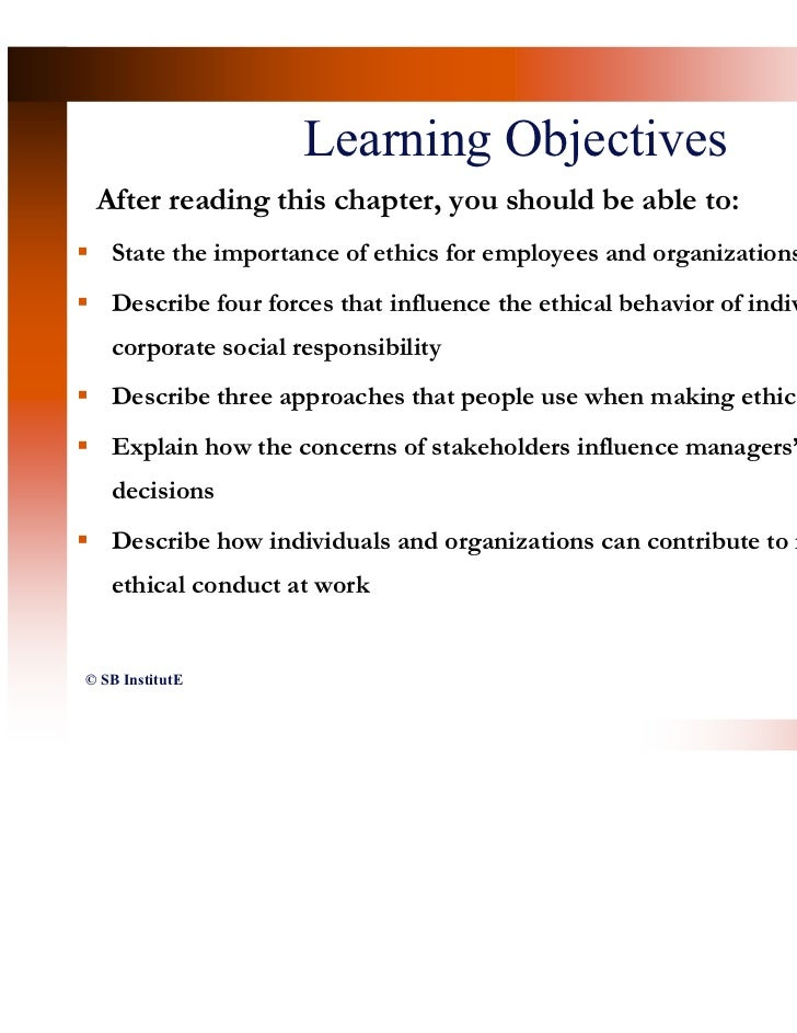 a description of the significance of business ethics and moral responsibility in the work environmen The moral principles that represent a person or group it's important for them to consider business ethics and social responsibility review the lesson associated with this quiz called business ethics & social responsibility: definition & differences you'll examine.