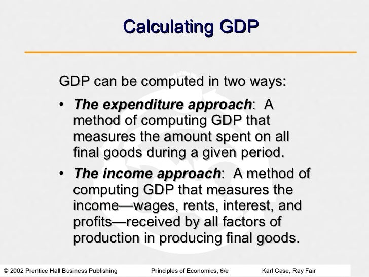 how are national income expenditure and product measured National income accounting  output is the gross national product (gnp), which is a measure of the total market value of currently  flow of income and expenditure.