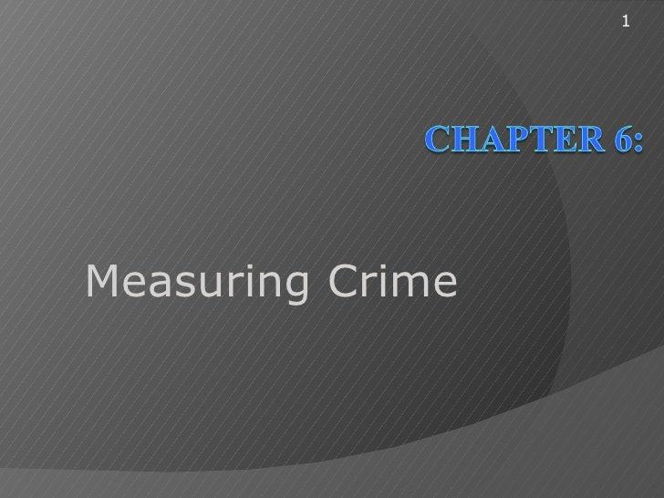 1Measuring Crime