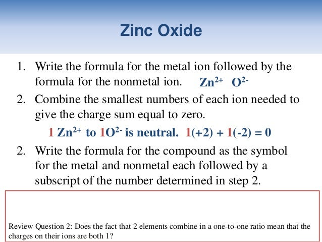 what is the formula for oxide ion