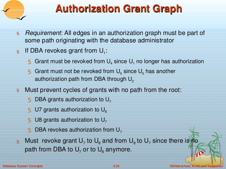 Authorization Grant Graph <ul><li>Requirement : All edges in an authorization graph must be part of some path originating ...
