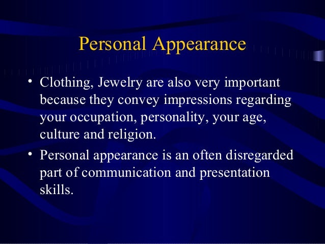 appearance in nonverbal communication