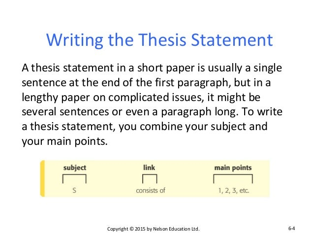parallel thesis Writing a divided thesis statement a thesis statement is the most important sentence in your presentation because it summarizes the main argument you are trying to.