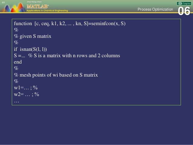 Ch 06 MATLAB Applications in Chemical Engineering_陳奇中教授教學投影片