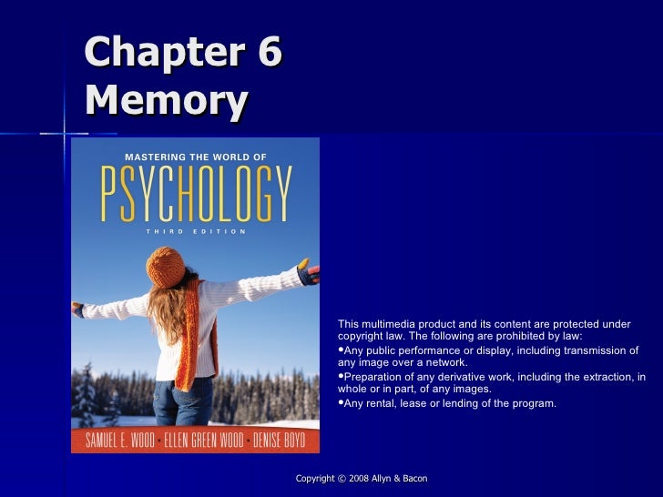 Chapter 6 Memory                          This multimedia product and its content are protected under                     ...