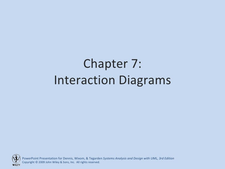 Chapter 7: Interaction Diagrams