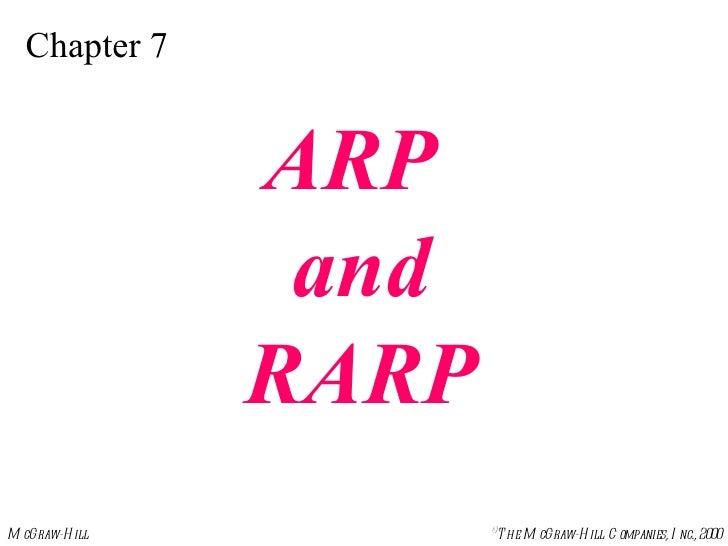 Chapter 7 ARP  and RARP