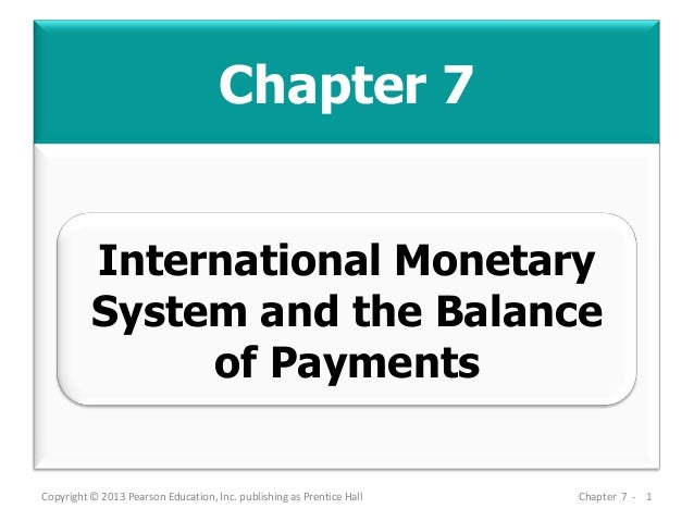 Chapter 7 Copyright © 2013 Pearson Education, Inc. publishing as Prentice Hall Chapter 7 - 1 International Monetary System...
