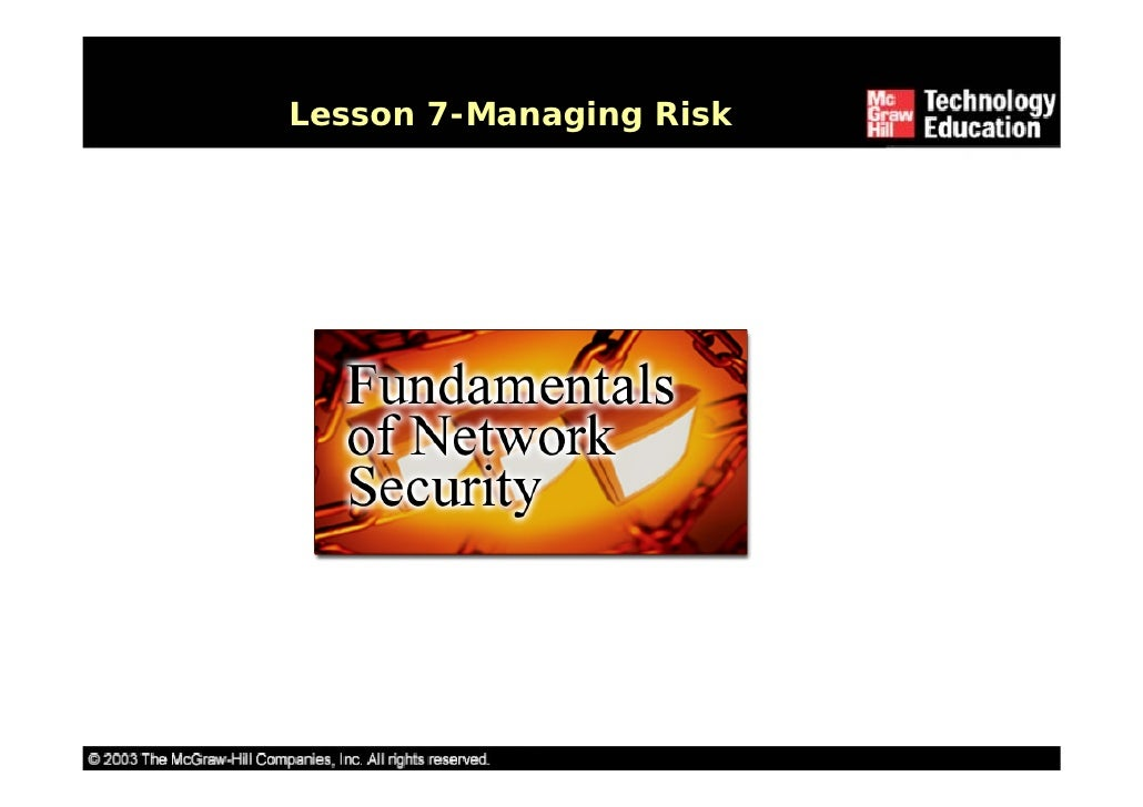 Lesson 7-Managing Risk