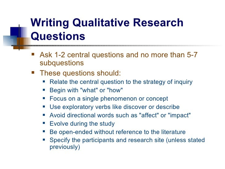 Research question examples