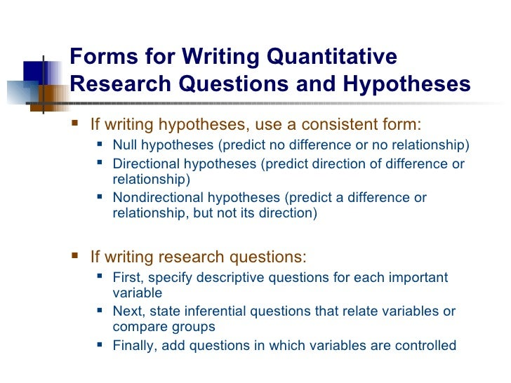 research question hypothesis examples Hypothesis testing when you conduct a piece of quantitative research, you are inevitably attempting to answer a research question or hypothesis that you have set.