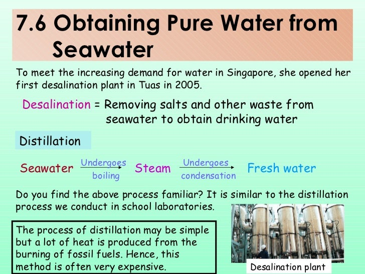 how to get pure water from seawater