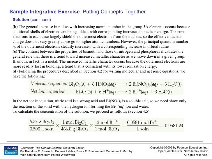 AP Chemistry Chapter 7 Sample Exercise