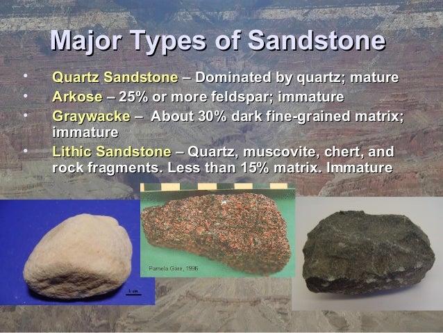 Types Of Sandstone : Ch sedimentary rocks