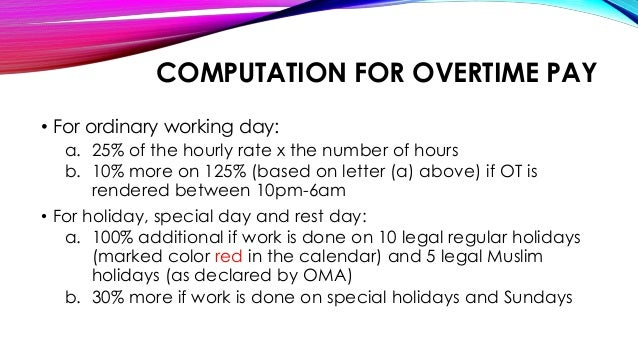 overtime pay essay Under the federal fair labor standards act (flsa), covered employers must pay eligible employees an overtime premium of 150% of their regular hourly wage for every hour they work over 40 in a week the vast majority of employers are covered by the flsa.