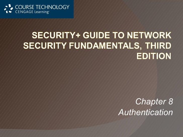 Chapter 8 Authentication