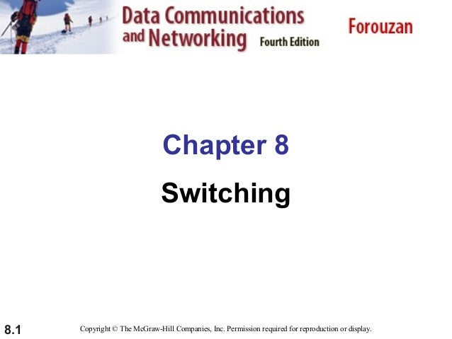 Chapter 8 Switching  8.1  Copyright © The McGraw-Hill Companies, Inc. Permission required for reproduction or display.