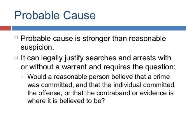 probable cause and reasonable suspicion essay about myself