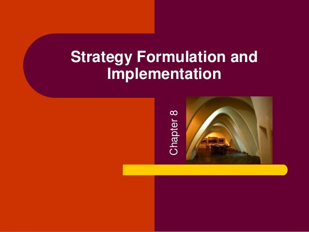 strategy formulation and implementation of pepsi Implementation is the process that turns strategies and plans into actions in order to accomplish strategic objectives and goalsimplementing your strategic plan is as important, or even more important, than your strategy.