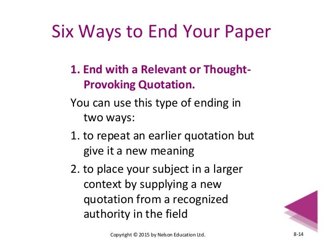 types of conclusions for expository essays