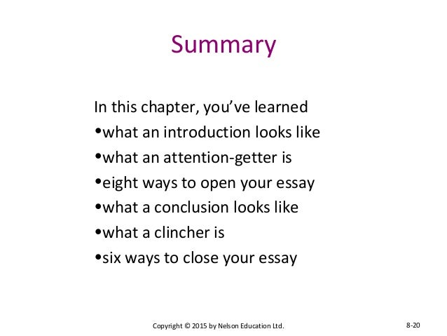 chapter essay essentials