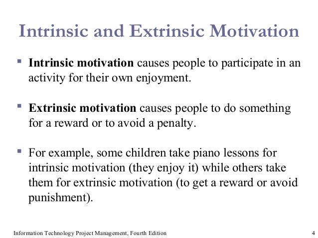 extrinsic motivating factors on how fourth This research will find the impact of extrinsic and intrinsic motivational factors on  trust the report will  page 4 application of motivation theory in business.