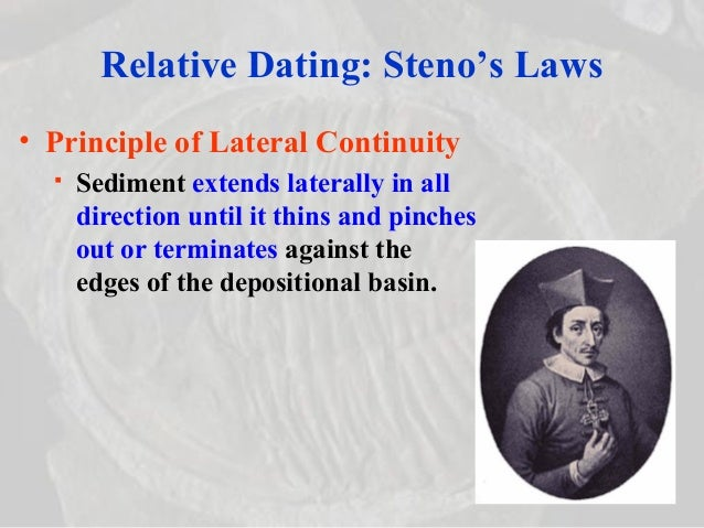 Nicolaus stenos three principles used in relative dating definition