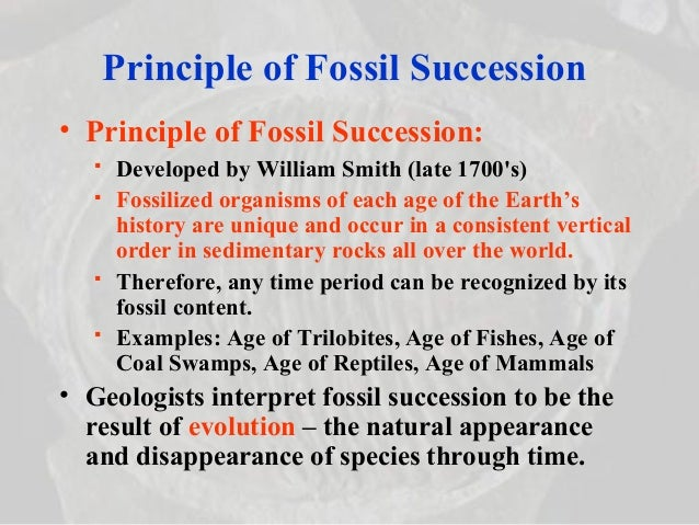 Law Of Fossil Succession Strata Dating