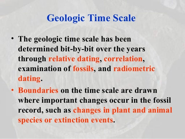 Absolute dating definition geology 10
