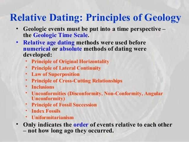 rules and principles of relative dating