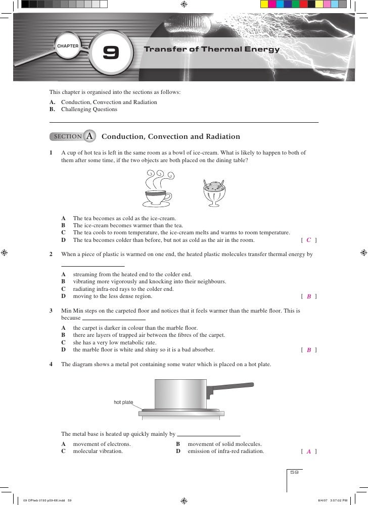 Convection Conduction Radiation Worksheet - Tecnologialinstante