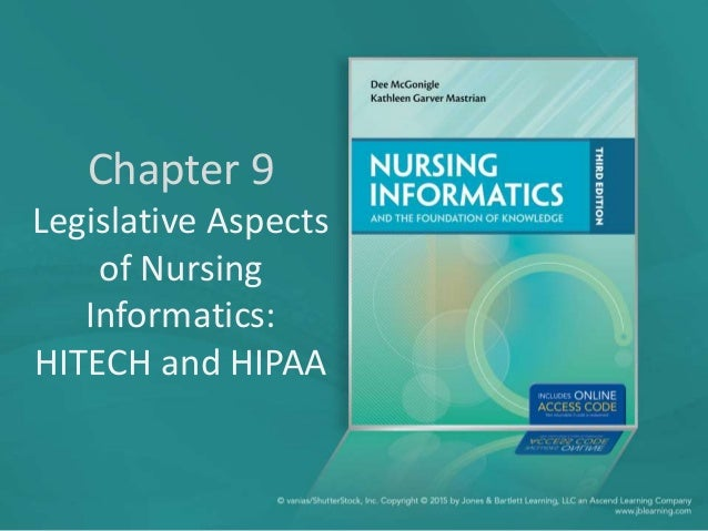 Chapter 9 Legislative Aspects of Nursing Informatics: HITECH and HIPAA