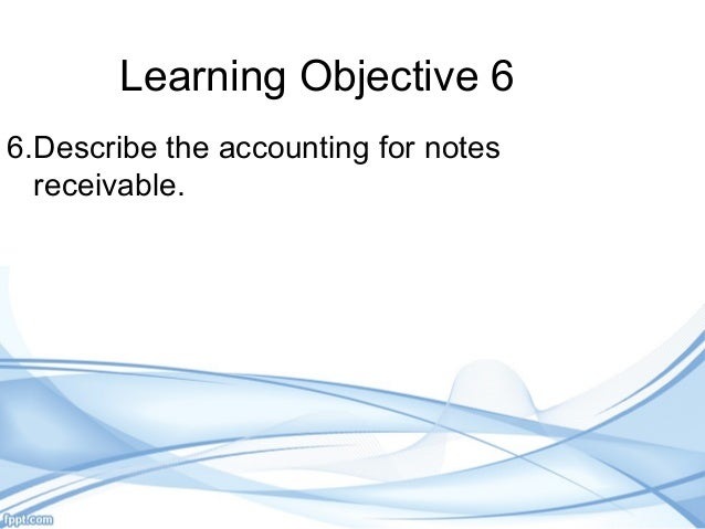 chapter 9 accounts receivable Chapter 9: accounting systems  receivables – the money that is coming into  and owed to the business  receivables – if you take cash for a sale, it's there.