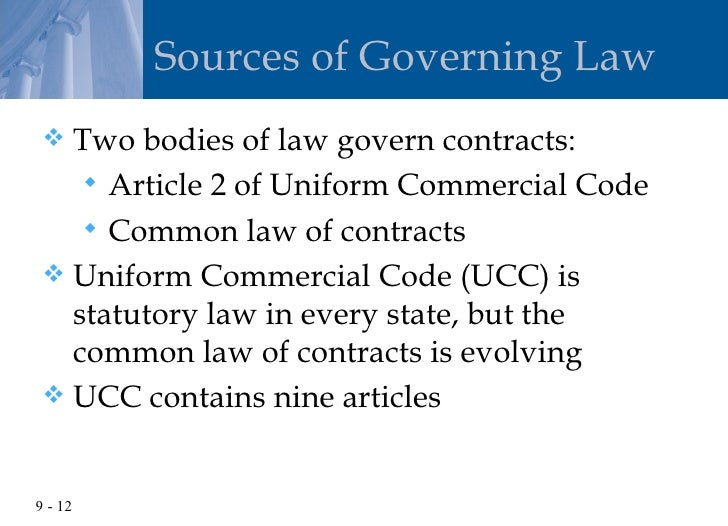 ucc article 2 and common law
