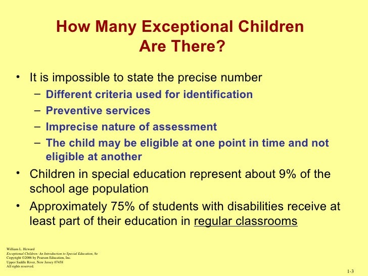 introduction to special education Education of special needs students research papers delve into an example of how to order a graduate level research paper, with an outline of the paper included buy.