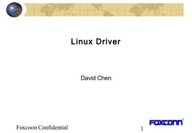 Foxcoon Confidential 1 Linux Driver David Chen