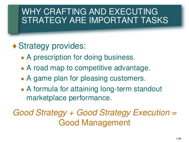 crafting and executing strategy 20th edition pdf