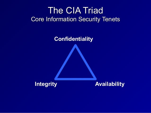cia core security principles Core security principles refer to the principles of confidentiality, integrity, and availability you have been placed in charge of the corporate security department and your boss has asked.