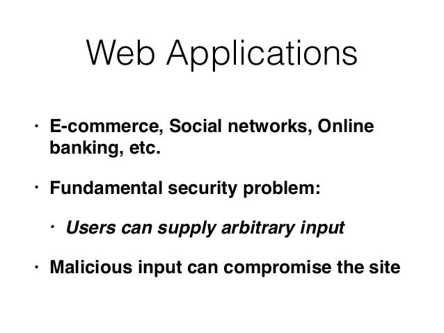 Ch 1: Web Application (In)security & Ch 2: Core Defense Mechanisms Slide 2