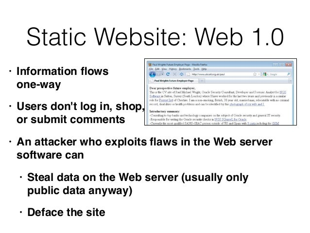 Ch 1: Web Application (In)security & Ch 2: Core Defense Mechanisms Slide 3