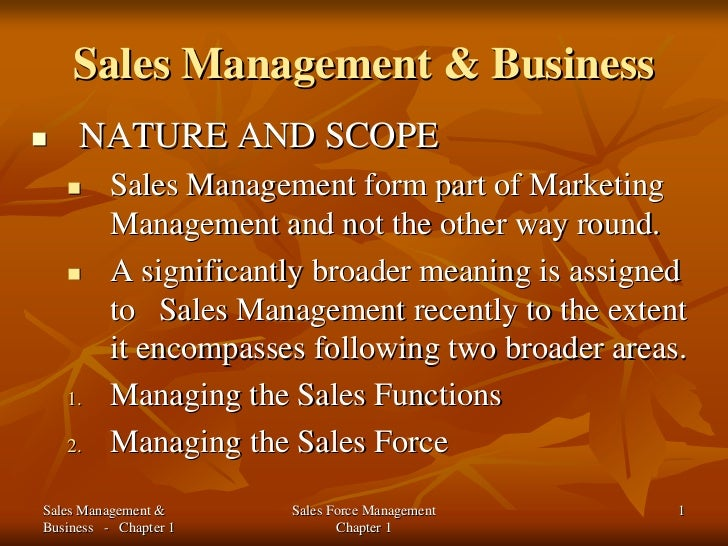 nature of sales manager