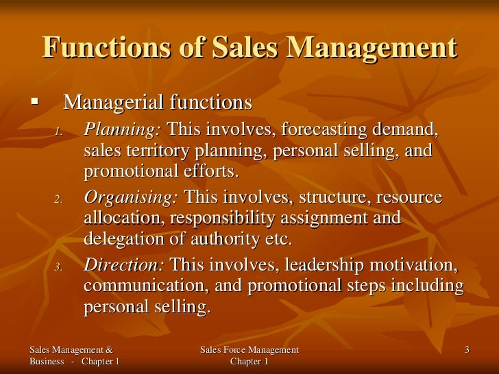 intro to sales management Many people understand sales and management as business concepts, but do you understand what sales management is.