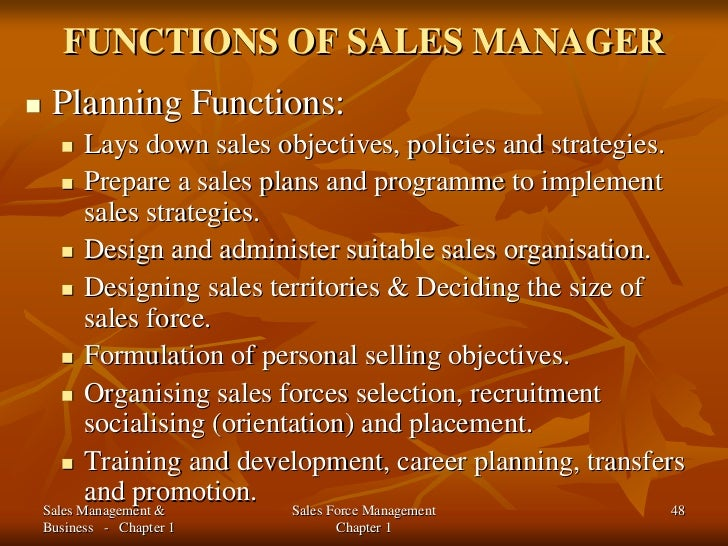 An Introduction to Sales Management