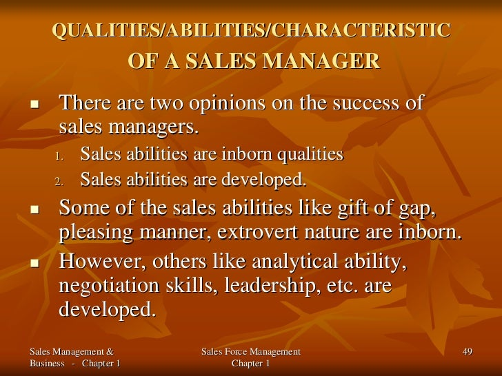qualities of a good salesperson pdf