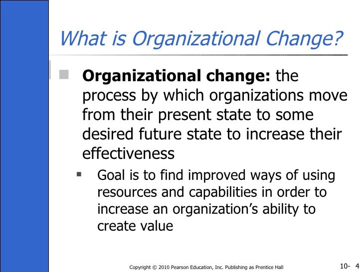 management theories for managing organisational change The contingency approach to management is based on the and organization theory environmental change and organizations and environment: managing.