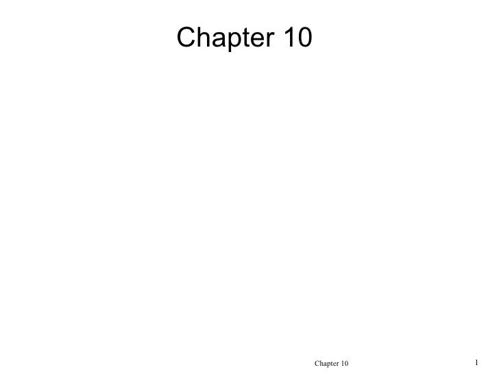 Chapter 10Knowledge Management                  Chapter 10   1