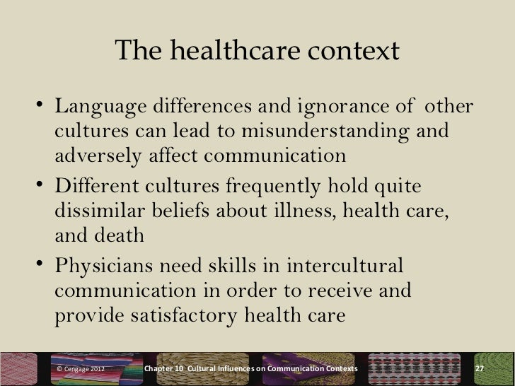 impact of cultural variation on intercultural relationship in healthcare There is no empirical literature comparing the effectiveness of different models of cross-cultural care and communication there is excellent empirical evidence showing that efforts to educate health care clinicians in cross-cultural care relationship: achieving cultural.
